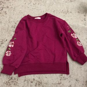 Other - Kids girls size 5T toddler sweater with flowers